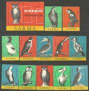 Matchbox Label - Birds - Boites D'allumettes - Etiquettes