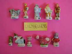 Série Complète De 10 Feves En Porcelaine MERLIN L' ENCHANTEUR 2003 ( Feve ) - Disney