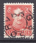 Vorläufer Faroe Islands Denmark Used Abroad 1943 Mi. 271 20 Øre Christian X. Uds Stjernestempel Star Cancel SØRVAAG - Oblitérés