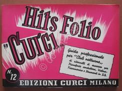 Hits Folio Curci 1958 Musica Canzoni Spartiti Festival San Remo Modugno Nel Blu - Strumenti Musicali