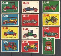Germany  12 Old Matchbox Labels - Cars - Boites D'allumettes - Etiquettes