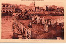 Irak Mossoul Animée Belle Vue De La Ville Le Pont De Bateaux ânes Mission Dominicaine De Mésopotamie - Iraq