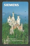 Neuschwanstein Castle  (Siemens) Telephone Card Du Japon - Montagnes