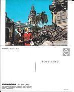 ECUADOR EQUATEUR SQUARE IN QUITO PANAGRA JET SKY CARD CPA CIRCA 1970 UNCIRCULATED - Equateur