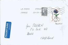 France 2015 Bourg En Bresse Modern Art Censored Cover To Cameroun - Brieven En Documenten
