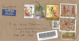 India 2002 Delhi Gandhi Hindousm Painting Registered Cover - India