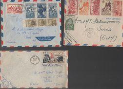 Lot De 3 Enveloppes AEF AOF  Années  40-50 (PPP6018) - Francobolli