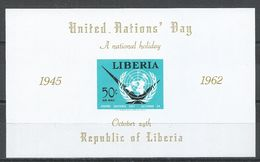 Liberia 1962. Scott #C145 (MNH) United Nations (Souvenir Sheet) - Liberia