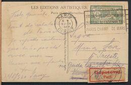 °°° 7444 - FRANCE - 75 - PARIS - L'EGLISE ST. AUGUSTIN - 1924 With Stamps °°° - Eglises