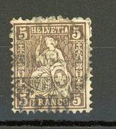 SUISSE - DIVERS N° Yt 35 Obli. - 1862-1881 Zittende Helvetia (getande)