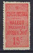 """FR Colis Postaux YT 30 """" Valeur Déclarée 15c. Vermillon """" 1918-23 Neuf* - Parcel Post"""