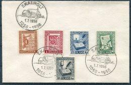 1956 Iceland Manuscripts Set On Skalholt Cover - 1944-... Republic