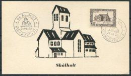 1963 Iceland Skalholt Kirkjuvigsla Maxicard Postcard - 1944-... Republic