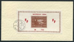 1984 Iceland Anglo-Nordic Philatelic Postcard. NORDIA Reykjavik FF Limited Edition 761 - 1944-... Repubblica