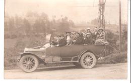Carte-Photo-Lourdes (Hautes-Pyrénées)-Excursion Vers La Gavarnie-1924-Automobile-Vieille Voiture-Touristes-chapeaux.... - Lourdes