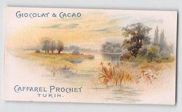 "06554 ""CHOCOLAT & CACAO - CAFFAREL PROCHET - TURIN'"" CARTONCINO PUBBLICITARIO VEDUTA - Pubblicitari"
