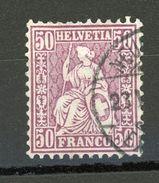 SUISSE - DIVERS N° Yt 48 Obli - 1862-1881 Sitzende Helvetia (gezähnt)