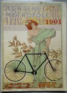 """Vélo - Livret Publicitaire De La Cie Parisienne """"La Métropole"""" Pour Le Bicyclette ACETENE -1901 - Publicités"""