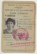 Carte D'Identité De 1943 - Bouches Du Rhône - Personne Née En 1895 - Altri