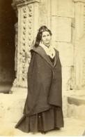 France Arlesienne Costume Traditionnel Ancienne Photo CDV Neurdein 1870 - Antiche (ante 1900)