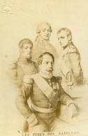 France Paris Les Pères Des Quatre Napoléon Ancienne Photo CDV Mignon 1870 - Photographs