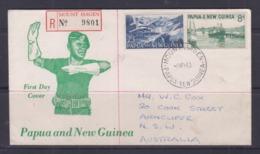 Papua New Guinea 1963 Definitives Registered FDC (MOUNT HAGEN Cancellation) - Papouasie-Nouvelle-Guinée