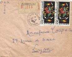 Dahomey Benin 1966 Banikoara Perlé Tapisserie Registered Cover - Benin – Dahomey (1960-...)