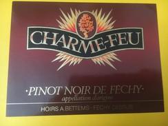 5229 -Charme-Feu Pinot Noir De Féchy Hoirs A.Bettems  Suisse - Etiquettes