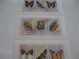 Comoros Comores-fauna Flora-insects Butterflies-Klb-MI.1034-42 - Comoros