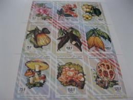 Comoros Comores-1994-fauna Flora-flowers,mushroom-MI.1043-51 - Comoros