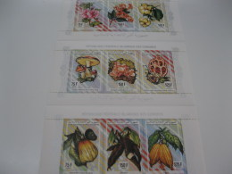 Comoros Comores-1994-fauna Flora-flowers,mushroom Klb.-MI.1043-51 - Comoros