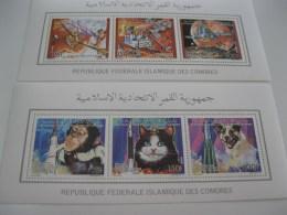 Comoros Comores-1992-fauna,space Animals Klb.-MI.989-994 - Comoros