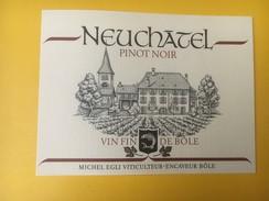 5232 - Pinot Noir De Neuchâtel Michel Egli Bôle Suisse - Etiquettes