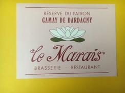 5231 - Gamay De Dardagny Réserve Du Patron Brasserie Restaurant Le Marais Suisse Fleur De Lotus - Etiquettes