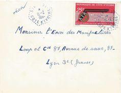 Cote D'Ivoire 1964 Sikensi Hexagonal Perlé Air Afrique Airline Cover - Ivoorkust (1960-...)