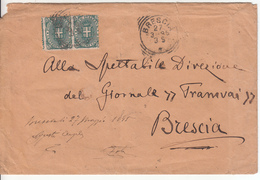 1895 - Piego Da Brescia Per Città (dentellatura Spostata) - 1878-00 Umberto I