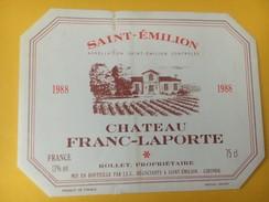 5242 -  Château Franc-Laporte 1988 Saint-Emilion - Bordeaux