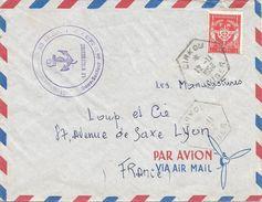 Niger 1956 Dirkou Hexagonal AOF Militair FM Cover - Niger (1960-...)
