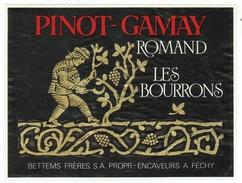 Rare // Etiquette // Pinot-Gamay Romand, Bettems Frères à Féchy, Vaud  // Suisse - Etiquettes