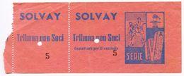 033> G.S. ROSIGNANO SOLVAY - Biglietto CALCIO Stadio IV^ SERIE 1953-54 Rarissimo - Livorno - Biglietti D'ingresso