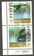 Sc. #1204 & 05 Wildlife Conservation 1988 Se-tenent Pr. Used K700 - 1952-.... Règne D'Elizabeth II