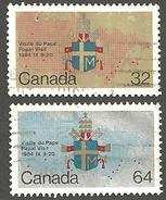 Sc. #1030 & 31 Papal Visit HV & Domestic Pr. Used K702 - 1952-.... Règne D'Elizabeth II