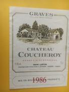 5248 -  Château Coucheroy 1986 Graves - Bordeaux