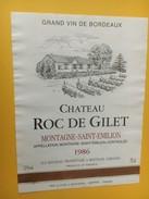 5249 -  Château Roc De Gilet 1986 Montagne Saint Emilion - Bordeaux