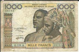 Af/2 MILLE FRANCS - Stati Centrafricani