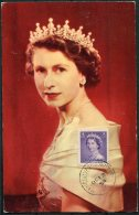 1954 Canada Queen Elizabeth QE2 Maxicard Postcard - Maximumkaarten
