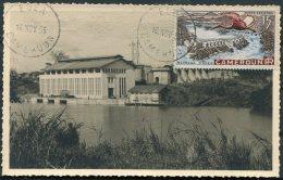 1953 Cameroun Barrage D'Edea Dam Maxicard Postcard - Cameroun (1915-1959)