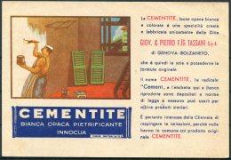 1956 Italy Genova Bolzaneto Franking Machine, Meter Mark - Bari. Cementite Illustrated Advertising Postcard - 1946-60: Poststempel