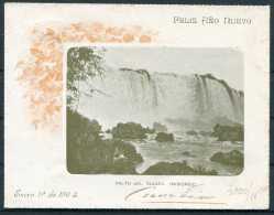 1903 Argentina 5 Cent Salto Del Iguazu Missiones Stationery. Waterfall - Postal Stationery