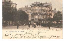 Liège - Place Du Théâtre - Dos Simple - 1904 - Animée - Liege